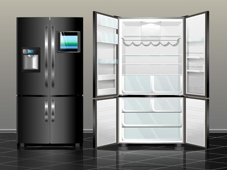 Retro Kühlschrank Schwarz : Kühlschrank abbildung clip art bild vektor lizenzfrei nutzbare