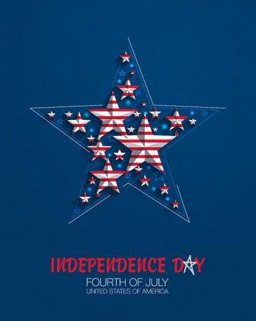 fourth of july: Fourth of July. Star