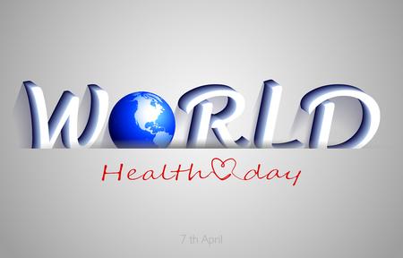 World Health Day, background illustration Illustration