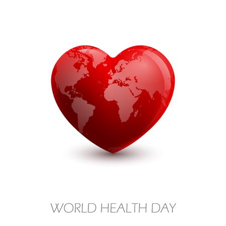 Vector illustration World Heart Day Background Vektoros illusztráció