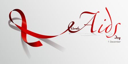 World Aids Day. Red Ribbon. Concept vector illustration