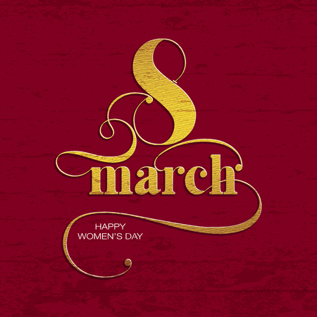 womans day: Vector composition for 8 March