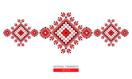 Fondo ornamento nacional Ilustración de vector