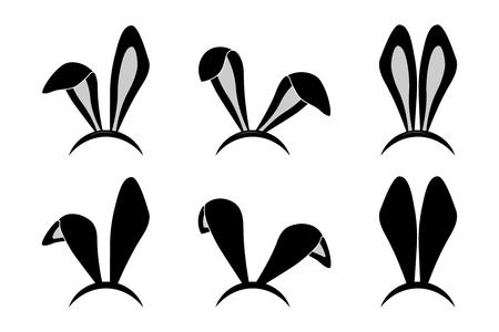 Paashaas oren masker Stock Illustratie