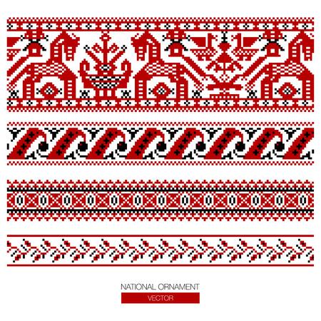 National ornament pattern Illustration