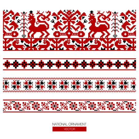 polish lithuanian: National ornament pattern Illustration