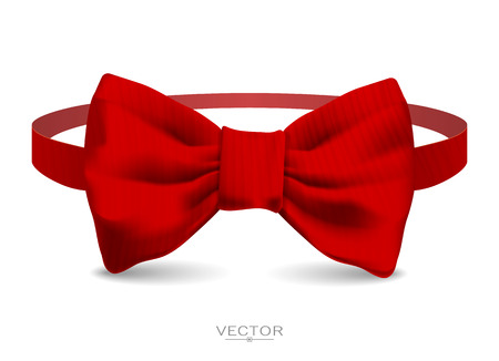 butterfly background: Realistic bow tie illustration