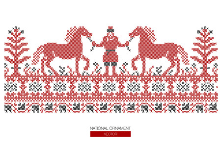 National ornament background.  イラスト・ベクター素材
