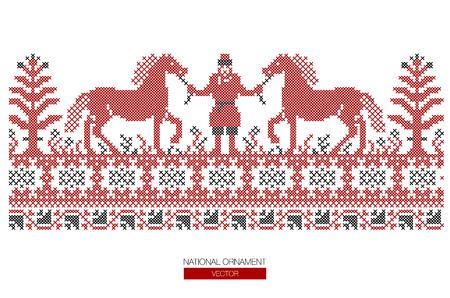 National ornament background. Illustration
