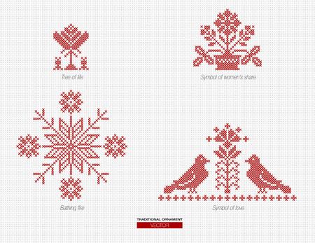 National ethnics ornament background vector illustration