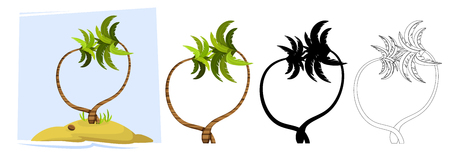 Tropical palm trees. Illustration of a palm tree 일러스트