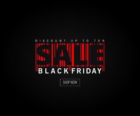 Fondo nero del layout di vendita di venerdì nero di vettore astratto. Per la progettazione di modelli artistici, stile brochure mockup, banner.