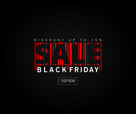 Abstract vector black friday sale layout background. For art template design, mockup brochure style, banner. Illustration