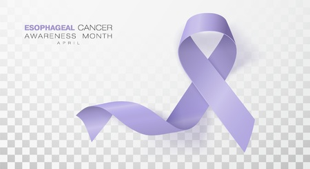 Esophageal Cancer Awareness Month. Periwinkle Color Ribbon Isolated On Transparent Background. Vector Design Template For Poster. Illustration