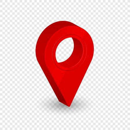 Map location pointer 3d arrow. Navigation icon for web, banner, logo or badge. Vector Illustration. 일러스트