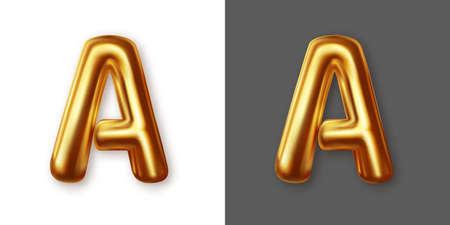 Metallic gold alphabet letter symbol - A. Vector 矢量图像