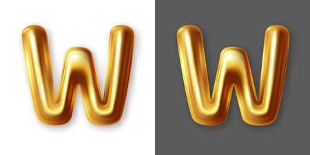 Metallic gold alphabet letter symbol - Y. Vector