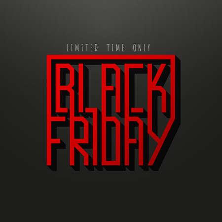 Black Friday sale inscription design template. Black Friday banner. Vector