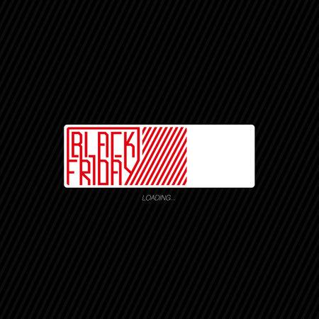 Black friday. Progress loading bar. Vector illustration.