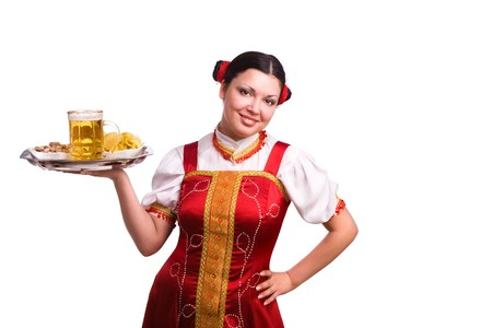 GermanBavarian girl with a traditional Oktoberfest  photo