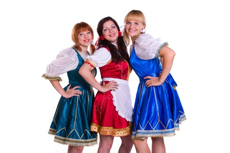 Three  GermanBavarian women photo