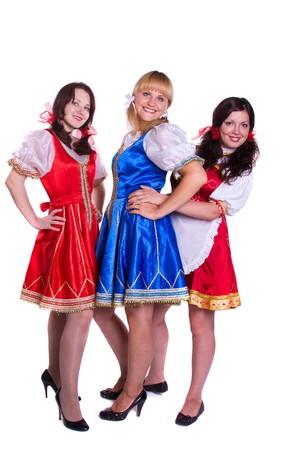 Three  German/Bavarian women Stock Photo - 7741959