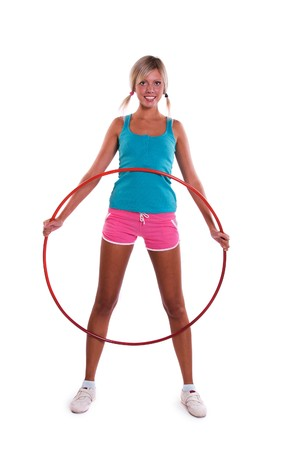Woman with hoop photo