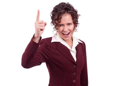 Young business woman shouting photo