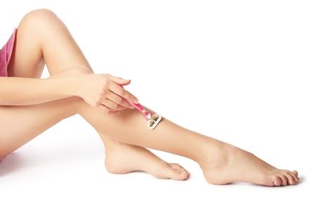 Shaving leg Stock Photo - 16381485