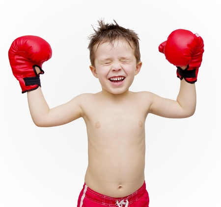 boxing boy: Child boxing