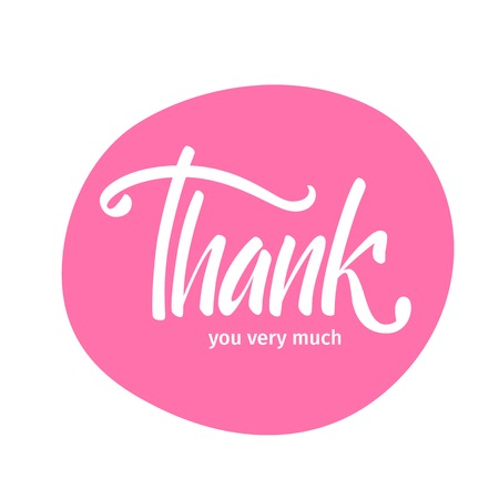 Vector illustration. Card. Poster. The phrase Thank you very much. Thanks. Hand lettering. Calligraphy brush marker. Illustration