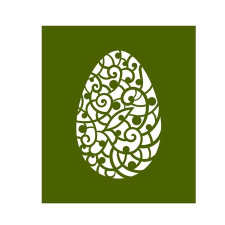 Vector illustration. Easter egg. Decorative element.