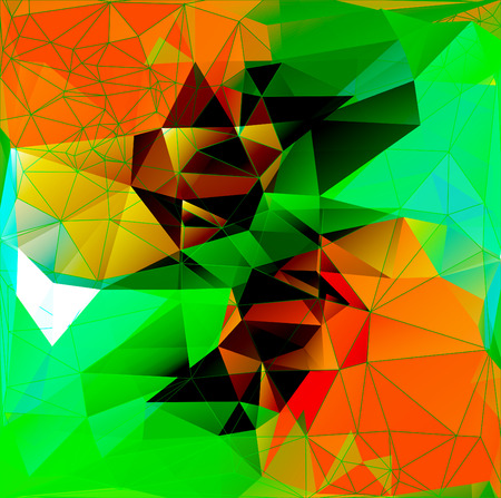 chaotic: Vector illustration. Abstract polygonal background. A geometric chaotic drawing. For use in graphic design, for brochures, wallpapers for a phone, website. Illustration