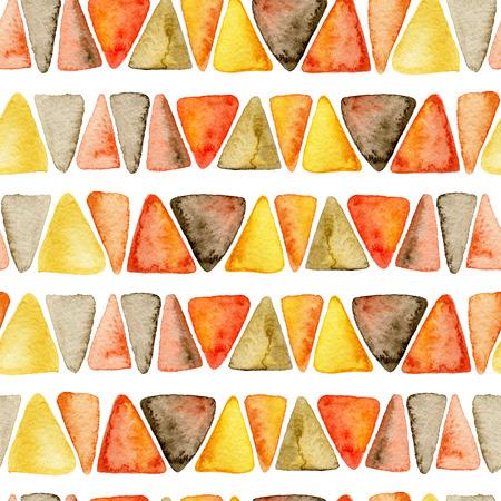 Waterverf naadloos patroon met driehoeken. Voor behang, stof, grafisch ontwerp.