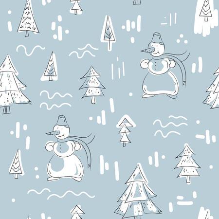 Vector illustratie Kerst naadloze patroon.