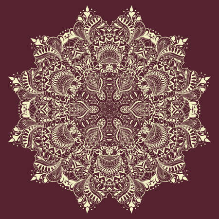 lace: Ornamental lace pattern, circle background with many details. Stock Photo