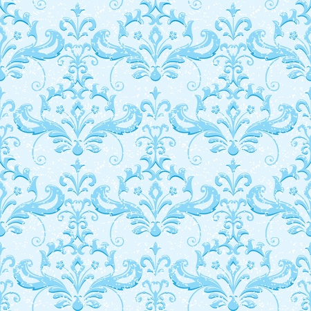 Winter ornamental wallpaper Vector