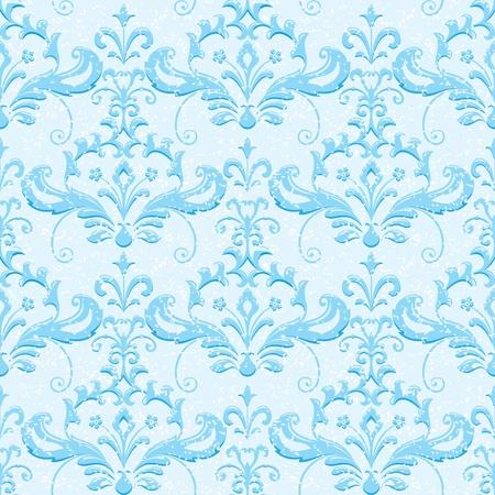 Winter ornamental wallpaper