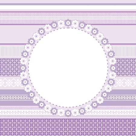 Template of decorative card, invitation or frame for your design Illustration