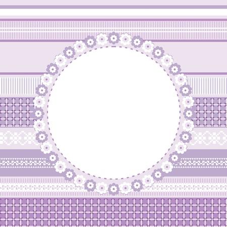 Template of decorative card, invitation or frame for your design Illustration