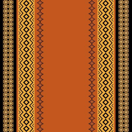 Seamless background with stripes traditional ethnic motifs  Vector