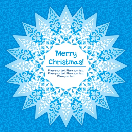 Template card with decorative snowflake for Christmas design Stock Vector - 11356752