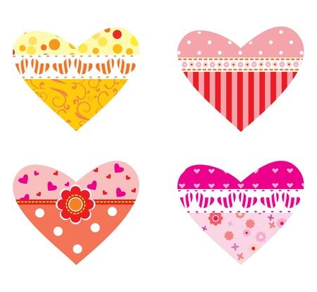 Set of decorative valentines hearts