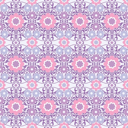 Ornamental floral seamless wallpaper with decorative flowers Vector