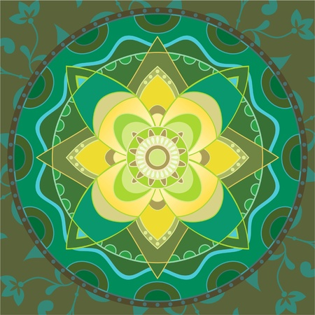 Indian traditional ornament mandala Vector