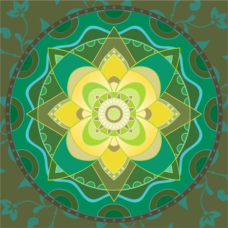 mandala: Indian traditional ornament mandala