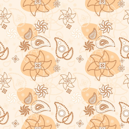Seamless floral texture of decorative flowers Vector