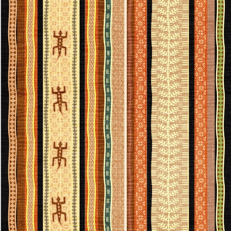 Afribright background with traditional African motifs and stylized lizardscan ornament photo