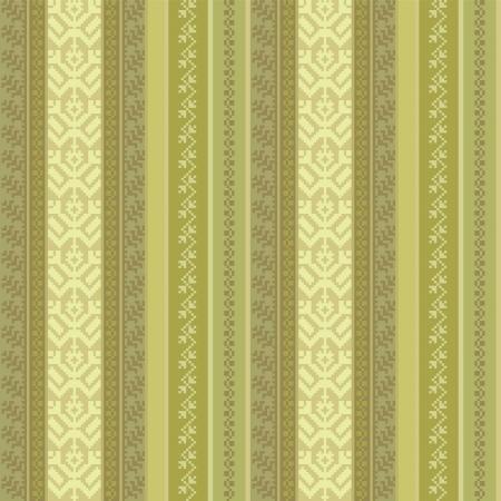 stripping: tejido sin costuras modelo con adornos tradicionales de color verde Vectores