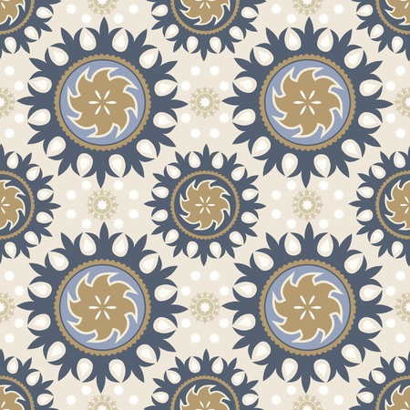 Ornamental seamless pattern traditional decorative elements asian style